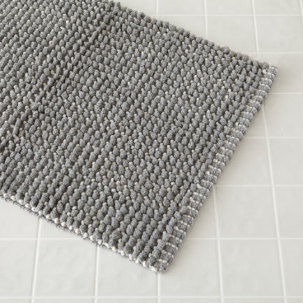 Grey Fresh Start Bath Mat