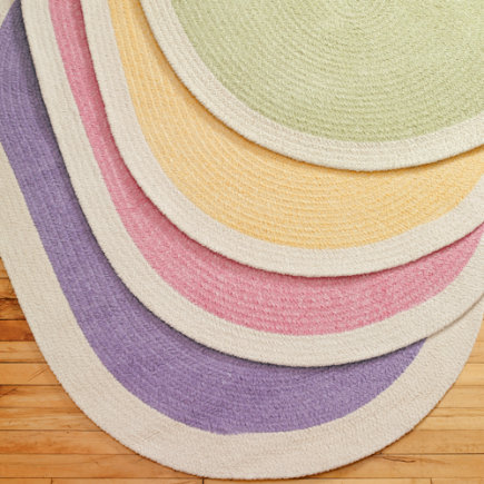 Kids Rugs: Kids Multi Colored Pastel Chenille Rug - 4 x 6 Pink Rug