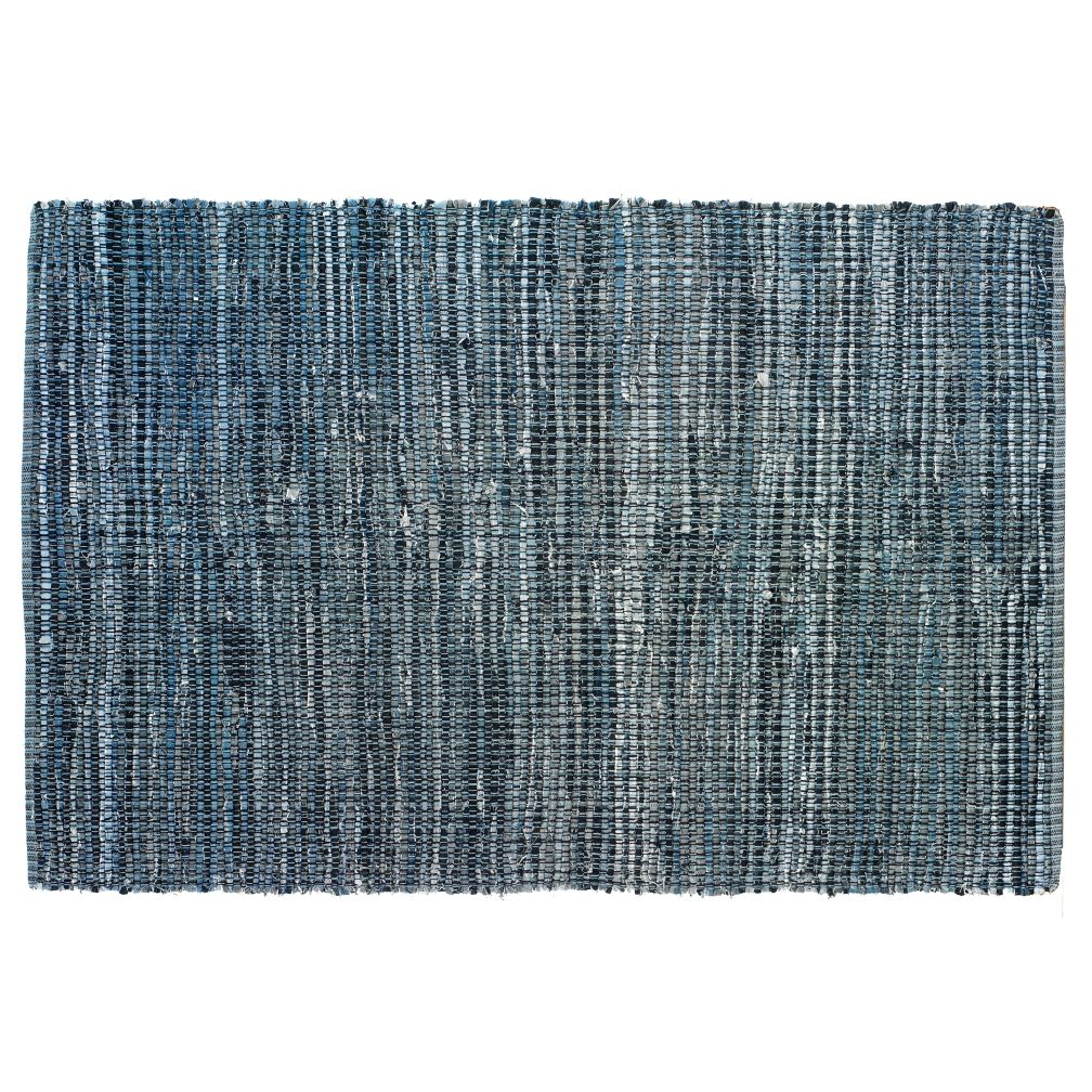 Kids Rugs Kids Blue Woven Cotton Denim Rag Rug The