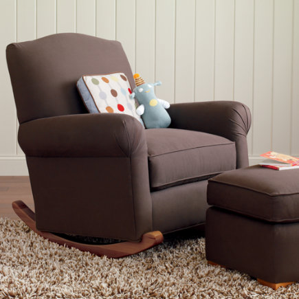 Daryl Chocolate Upholstered Rocker - Upholstered Rocker  (Chocolate) 39 x 34 x 38h