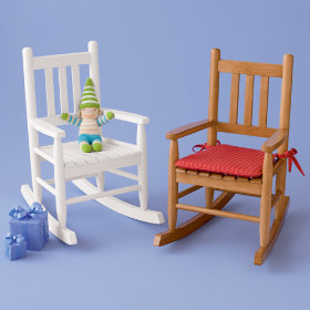 Kids Wooden Rocking Chairs