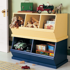 Kids Stackable Toy Storage Bins