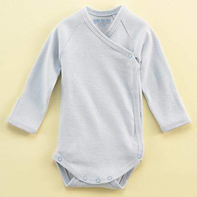 0-3 mos. Lt. Blue Sidesnap Onepiece