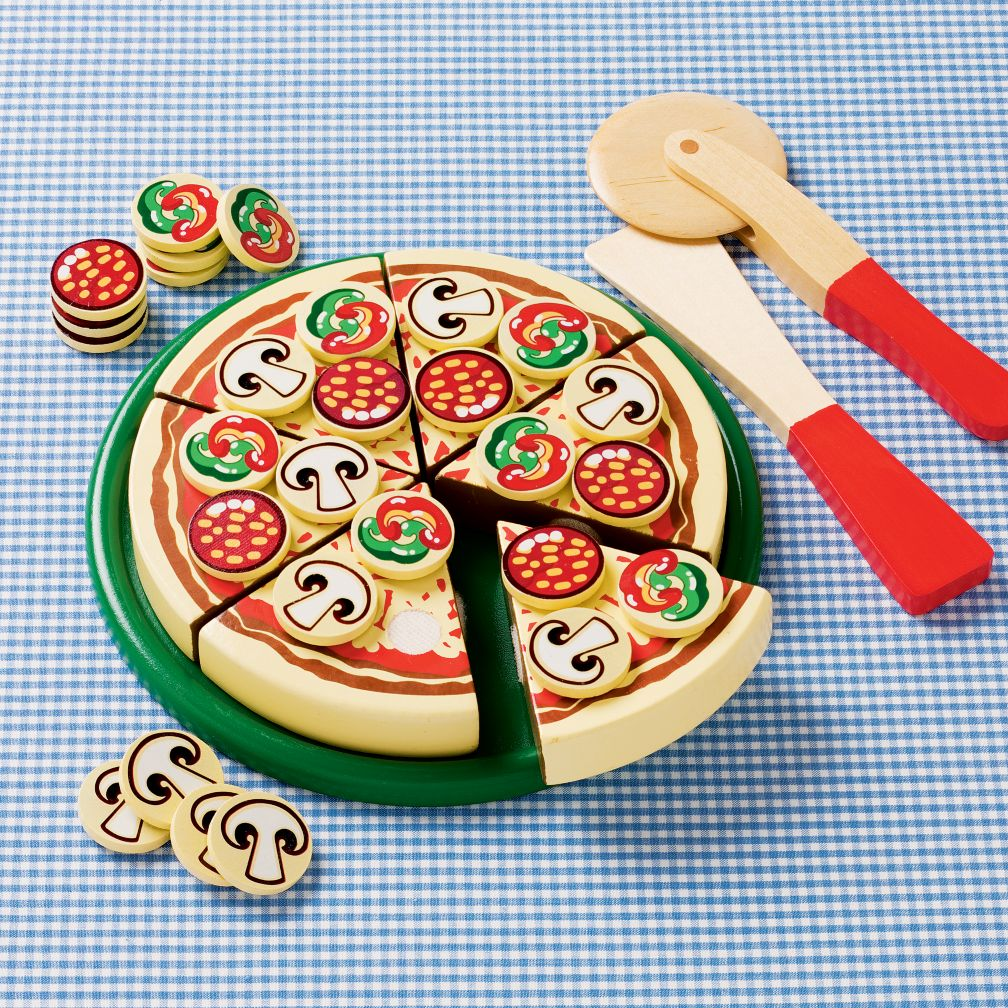 Wooden Pretend Play Food: Pizza by Melissa & Doug :  land of nod customer favorites pizza pizza pizza pizza toys games