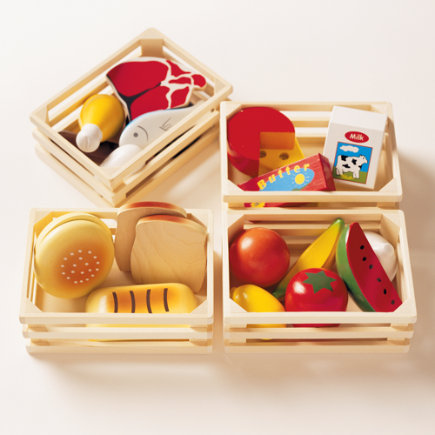 Kids Wooden Play Food Set - Play Food Set