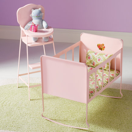 Kids Imaginary Play: Doll High Chair & Crib - Doll Crib Furniture