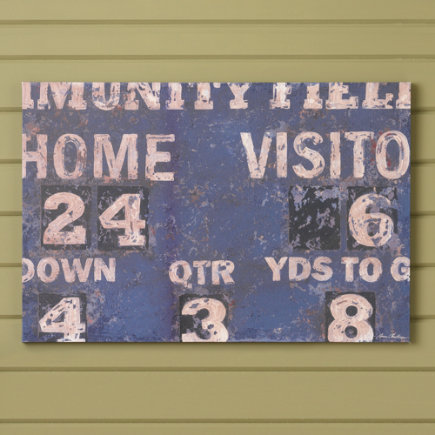 Score! Vintage Scoreboard Football or Baseball Sports Nursery Wall Art