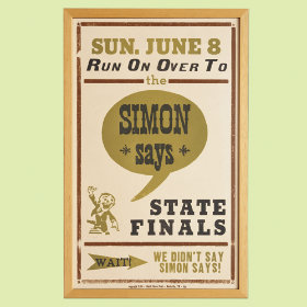 Simon Says Vintage Style Wall Art Poster
