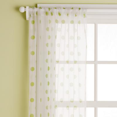 "63"" Dot Curtain Panel (Green)"