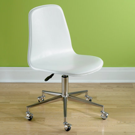 Kids Chairs: Kids White Leather Desk Chair   White Leather Desk Chair