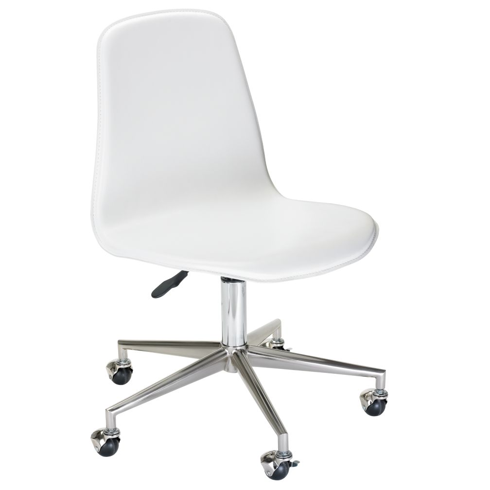 White Leather Desk Chair on office depot labels