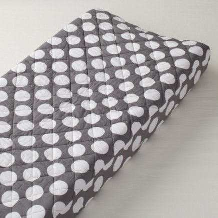 Grey with White Dot Changing Pad Cover
