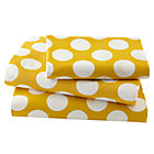 Twin Yellow w/White Dot Sheet SetIncludes fitted sheet, flat sheet and one pillowcase