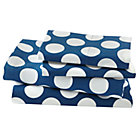 Full Blue w/White Dot Sheet SetIncludes fitted sheet, flat sheet and two pillowcases