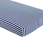 Blue Stripe Crib Fitted Sheet