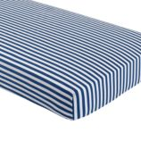 Make a Splash Organic Crib Fitted Sheet (Blue Stripe)