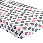 Hop to It Bunny Print Crib Fitted Sheet