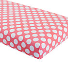 Pink with White Dot Crib Fitted Sheet