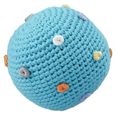 Lt. Blue Knit Ball Rattle