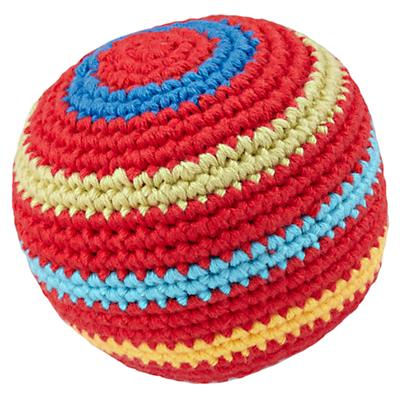 Red Knit Ball Rattle