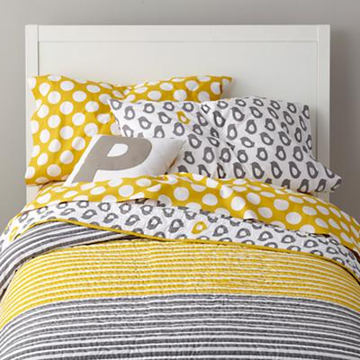 New School Kids Sheet Set (Yellow w/White Dot)