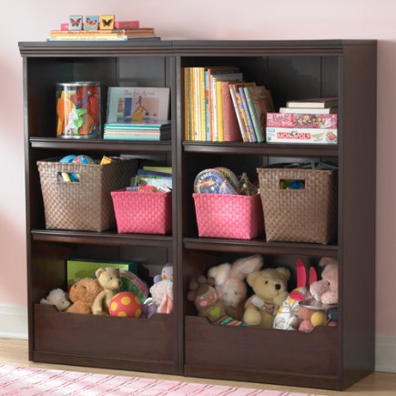 Kids Bookcases: Kids Espresso Flat Top With Adjustable Shelves Bookcase    Espresso 48 Flat Top Bookcase