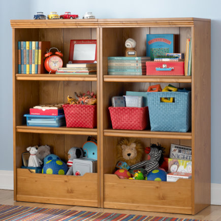 Kids Bookcases Honey Flat Top With Adjustable Shelves Bookcase
