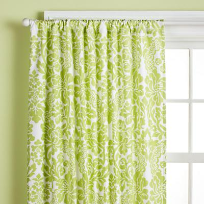 """63"""" Wallpaper Floral Curtain Panel (Green)"""
