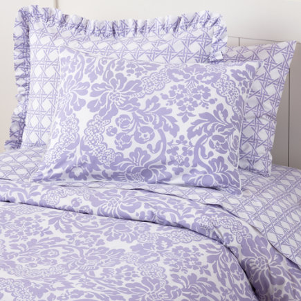 land of nod purple bedding