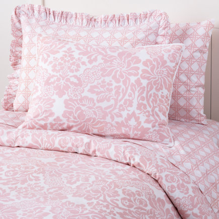 land of nod pink bedding