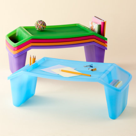 Kids Arts & Crafts: Kids Plastic Lap Tray Desks - Lap Tray (Blue)