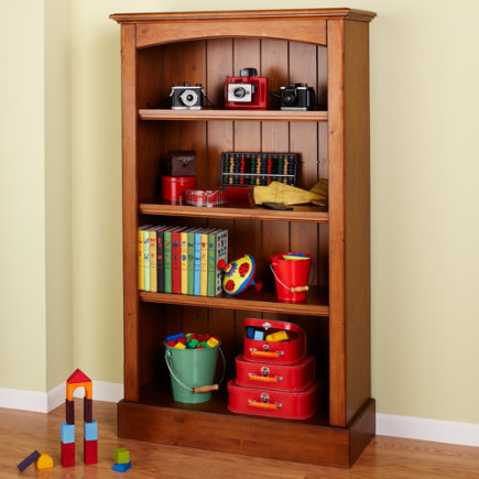 Kids' Bookcases: Kids Honey Walden Bookcase - Honey Bookcase
