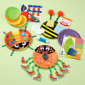 Kids' Arts and Crafts Toys: Kids Paper Plate Bug Craft Play Set