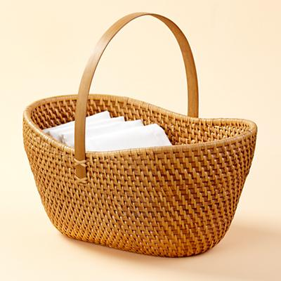 Rattan I Am Traditional Basket (Honey)