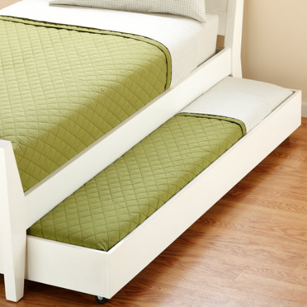 Kids Painted White Blake Bed Storage Trundle - Jenny Lind/Blake White Trundle Bed