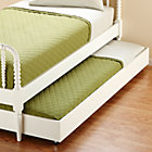White Trundle Bed