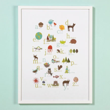 Great Outdoors Alphabet Poster - ABC Poster (Framed)
