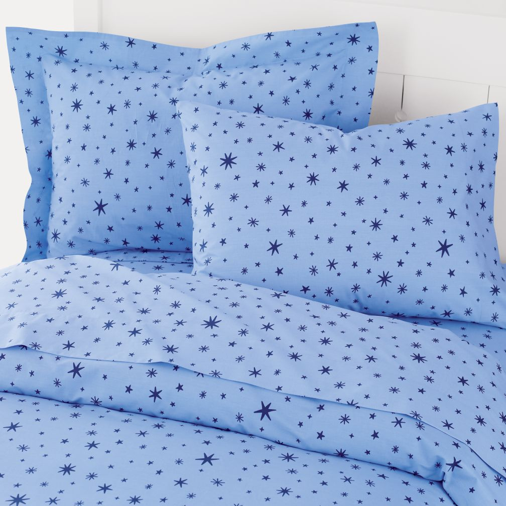 Kids Bedding: Blue Stars Duvet Cover