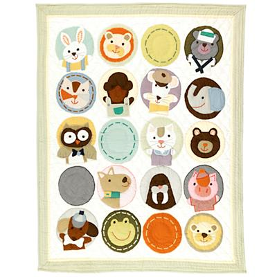 All Creatures Great and Small Crib Quilt