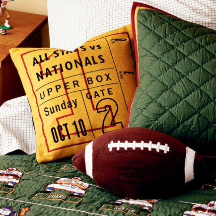 Kids Football Theme Throw Pillows - Throw Pillow (