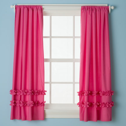 Pink And Green Nursery Curtains Print Blackout Curtains