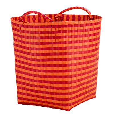 Orange/Red Floor Bin