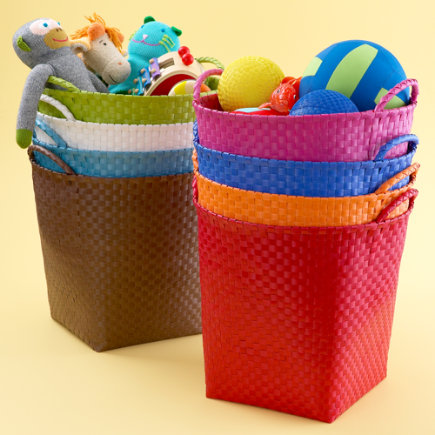 kids storage baskets