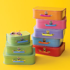 Kids Mini-Suitcases for Storage :  mini storage suitcases