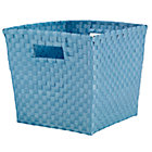 Light Blue Strapping Cube Bin