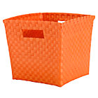Orange Strapping Cube Bin