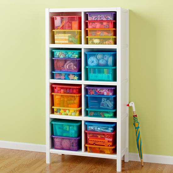 2019 New Wardrobe Kids Organizer Bins Box For Toys: Kids' Storage Containers: Kids Colorful See-Through