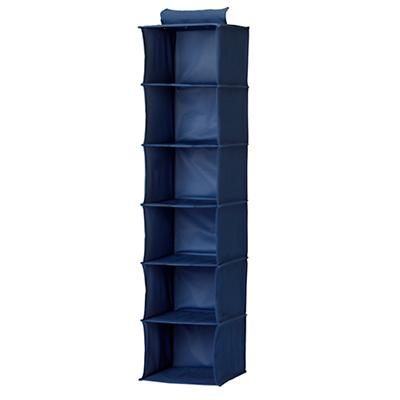 I Think I Canvas Blue Wide Hanging Organizer