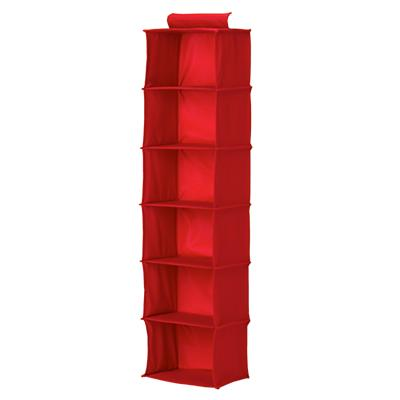 I Think I Canvas Red Wide Hanging Organizer