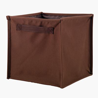 I Think I Canvas Canvas Cube Bin (Brown)